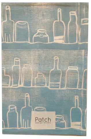 Bottles Organic Kitchen Towel - Pale Blue
