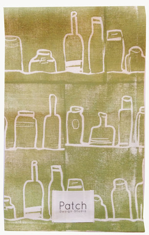 Bottles Organic Kitchen Towel - Soft Green
