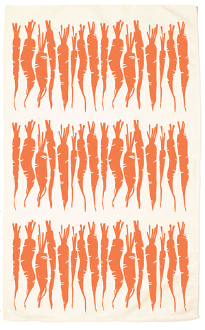 Carrot Organic Kitchen Towel - Carrot Orange