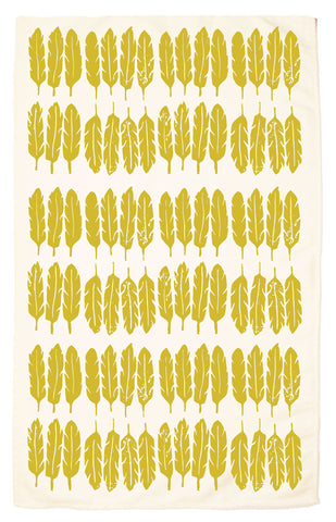 Feather Organic Kitchen Towel - Chartreuse