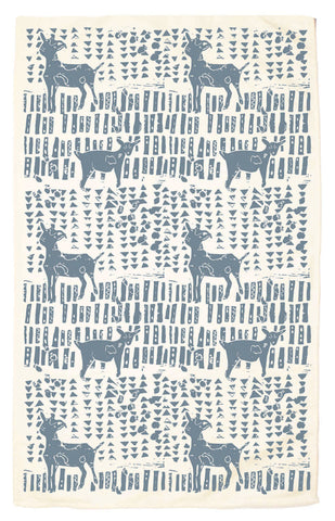 Goats Organic Kitchen Towel - blue agave
