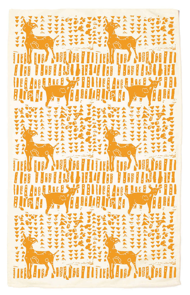 Goats Organic Kitchen Towel - marigold