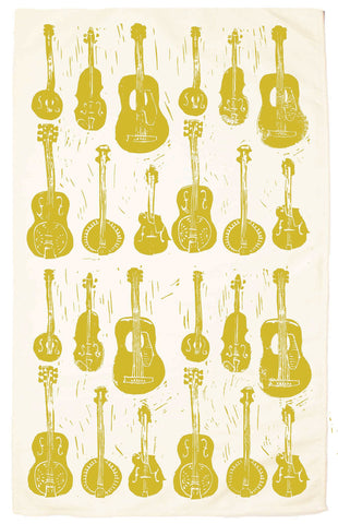 Strings Organic Kitchen Towel - chartreuse