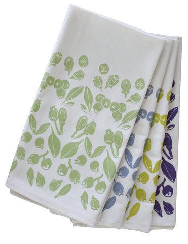 Blueberry Organic Napkin Set - Assorted Colors