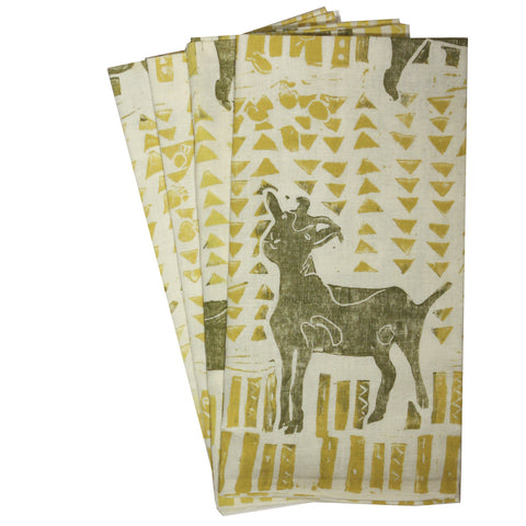 Organic Goat Napkins in green