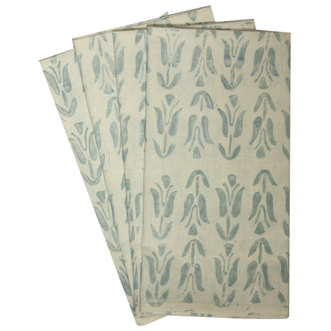 Organic Tulip Napkins in Pale Blue