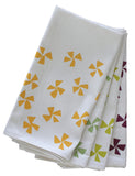 Pinwheel Organic Napkin Set - Assorted Colors
