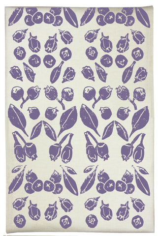 Blueberry Organic Kitchen Towel - Plum Purple