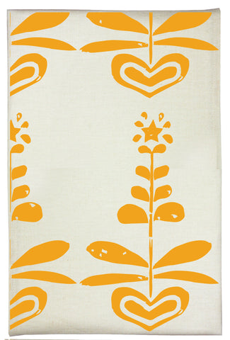 Holiday Tree Organic Kitchen Towel - Marigold Yellow