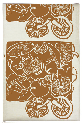Mushroom Organic Kitchen Towel - Acorn Brown