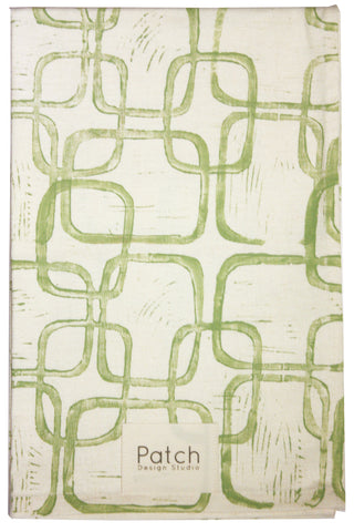 Squares Dish Towel in Soft Green