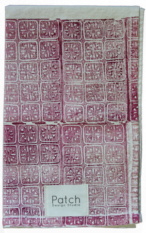 Ancient Stars Organic Kitchen Towel - Beet Red