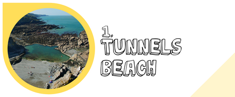 Tunnels beach in lifracombe with kids