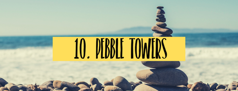 how to build pebble towers cairn with kids summer activitiy