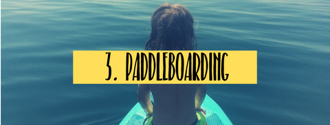 paddleboarding fun summer activity with children