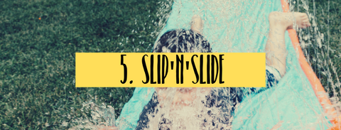 slip n slide fun activity for summer holiday with children