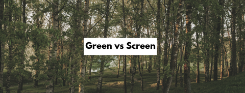 green space versus screen time trees forest bathing
