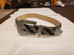 Womens Zebra Bling Belt (N3493862)