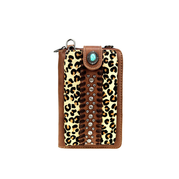 MW Leopard Print Collection Phone Case Crossbody Wallet (MW911-183)