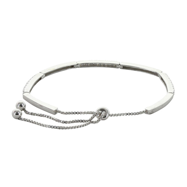 BC3870 Dashes and Dots Bolo Bracelet by Montana Silversmiths