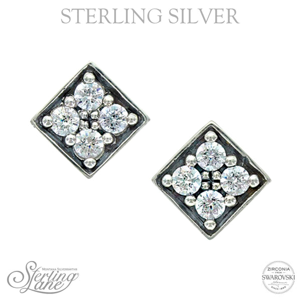 SLER008 Montana Silversmiths Sterling Lane Starlight's Core Stud Earring
