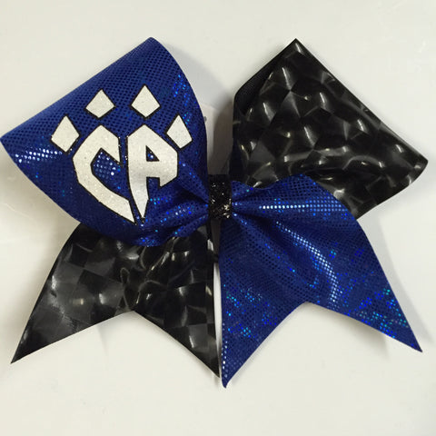 Blue & Black Shatter Bow