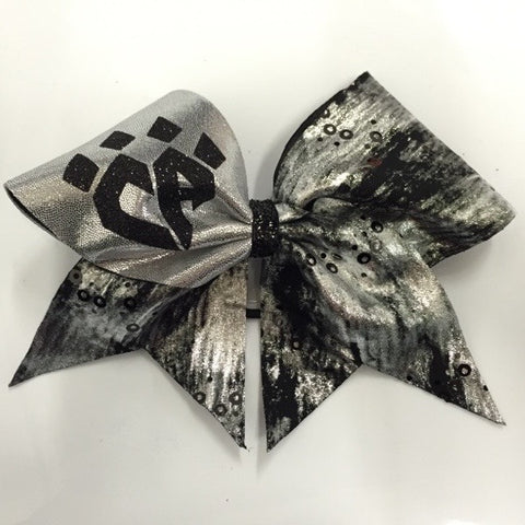 Black and Silver Abstract Bow