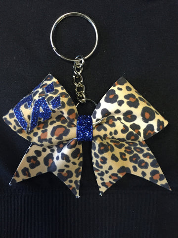 Cheetah Keychain Bow