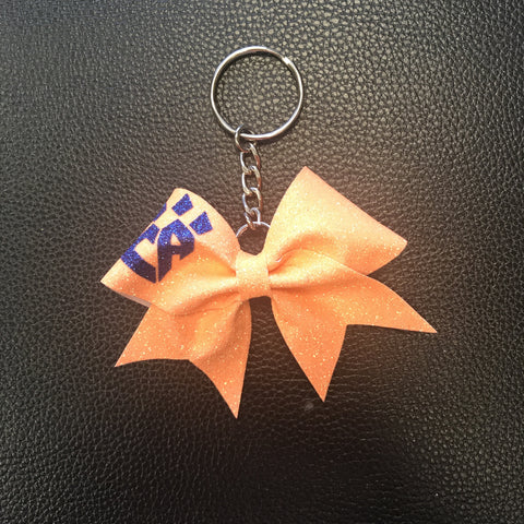 Orange Neon Keychain Bow