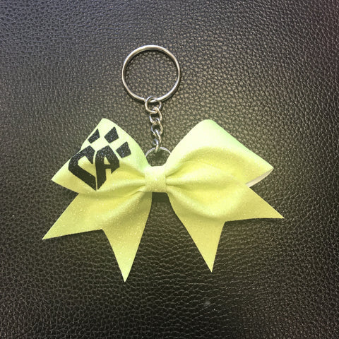 Yellow Neon Keychain Bow