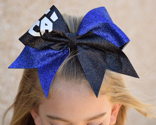 Blue and Black sparkle bow