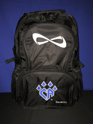Black NFINITY Backpack w/logo