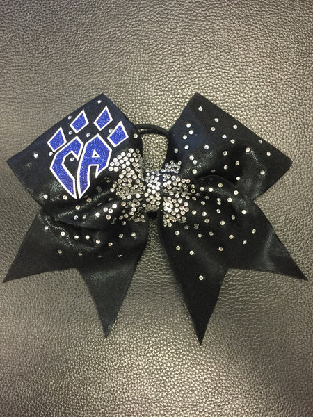 Limited Edition Black bling burst bow