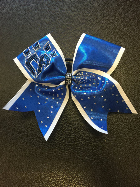 Limited Edition Blue White Trim Bow