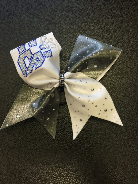 Limited Edition White & Gunmetal Crown Bow