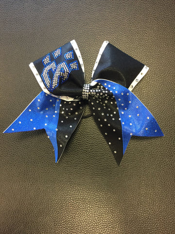 Limited Edition Blue/Black Split Tail Bow