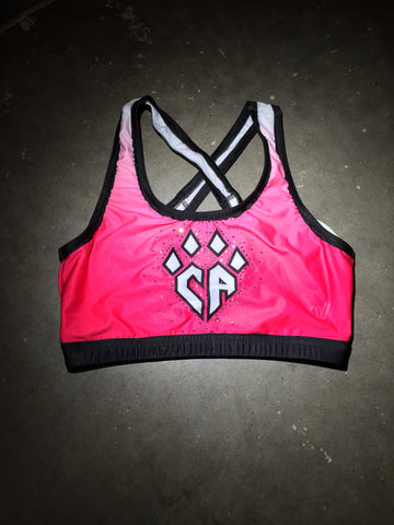 Hot Pink Workout Sports Top