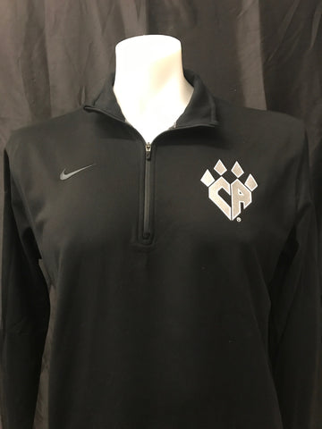 NIKE Black DRI-FIT 1/2 Zip Pullover