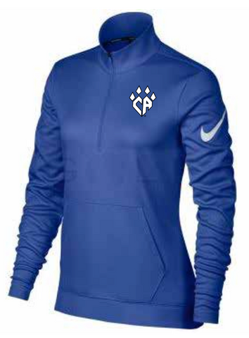 NIKE Women's Royal 1/2 Zip Pullover
