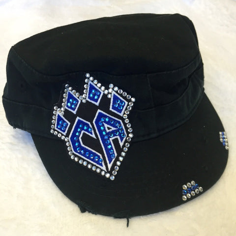 Black Bling Cadet Hat