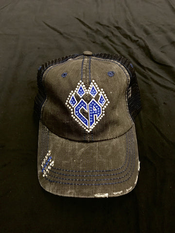 Black Trucker Hat with Bling Claw
