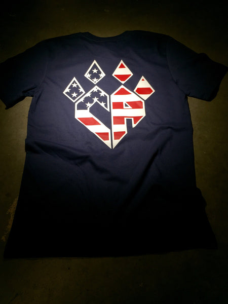 Navy Flag Claw Tshirt
