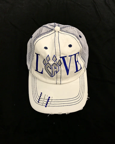 White LOVE Hat