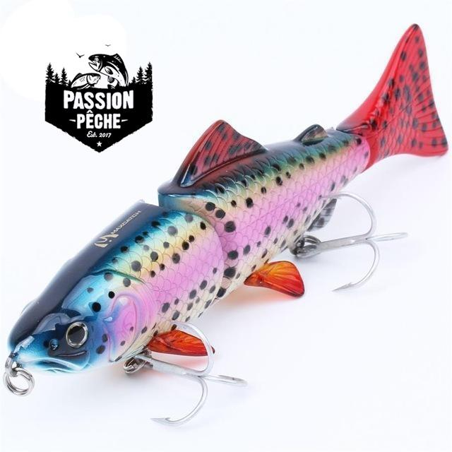 Swimbait 15cm/48g 3 segments silure - peche au leurre