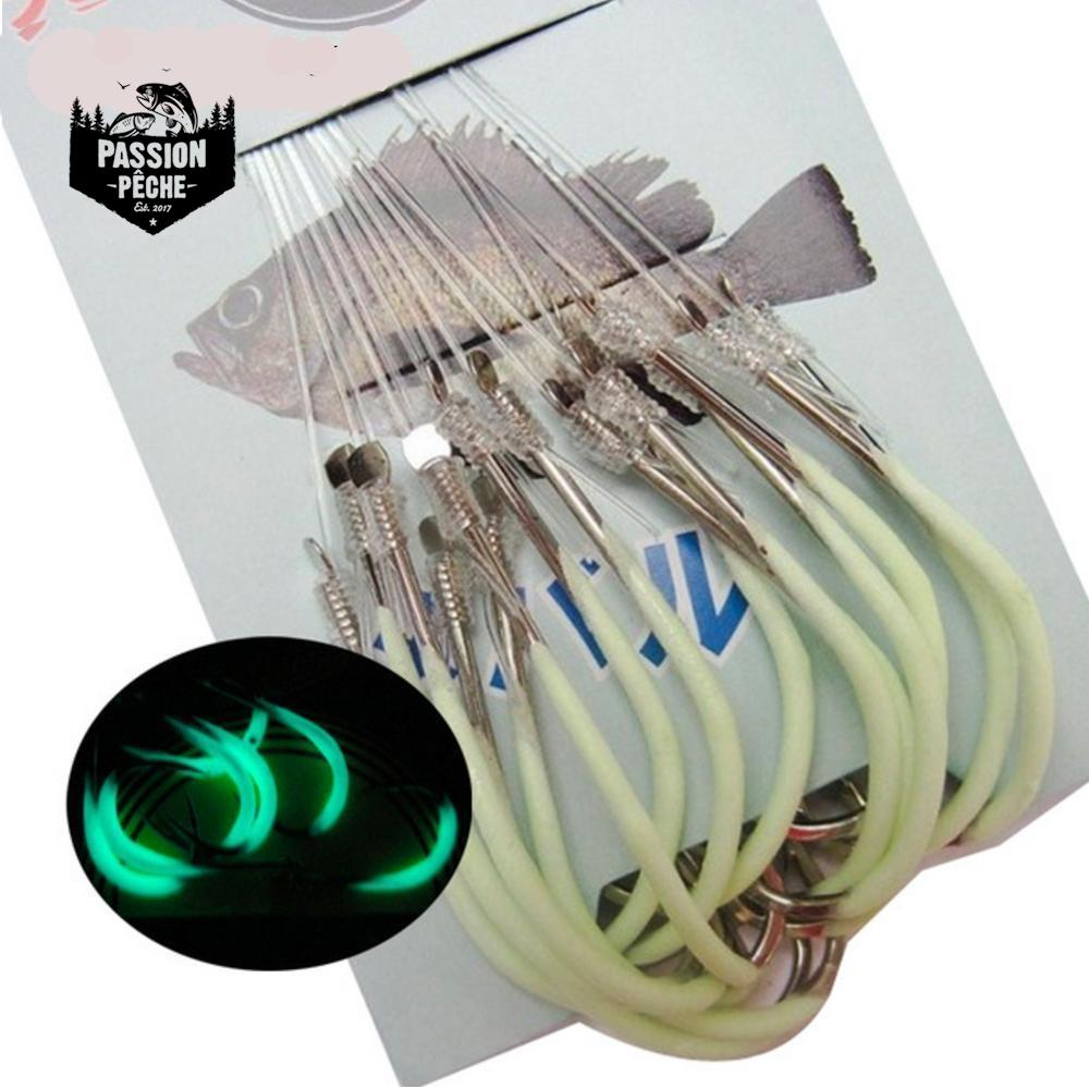 Lot de 30 Hameçons phosphorescents - peche au leurre