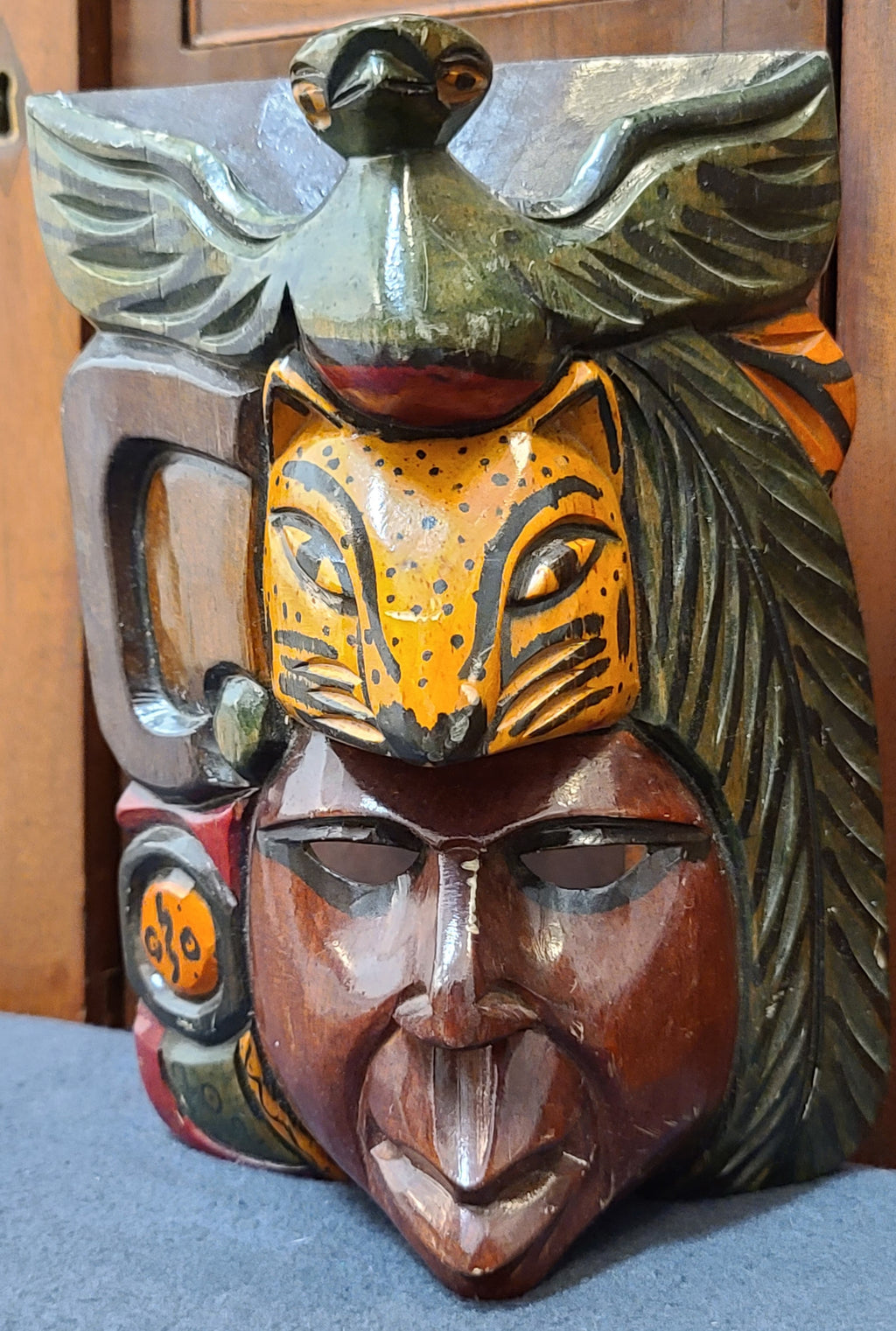 Hand-carved African souvenier face mask