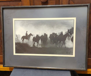 Horses at Sun Up signed original photo by Arthur Dailey A.R.P.S.