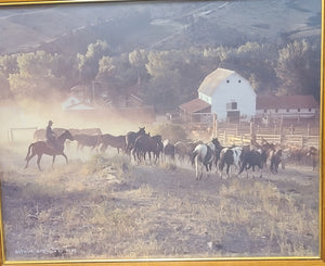 Original photo signed by Arthur Dailey A.R.P.S., On the Ranch