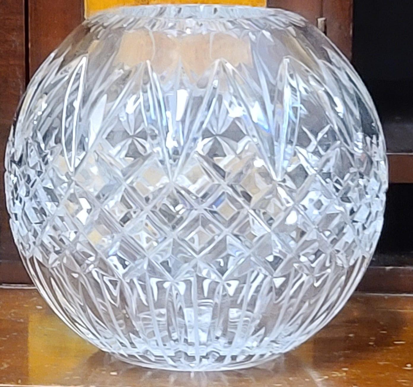 Ceska glass orb vase