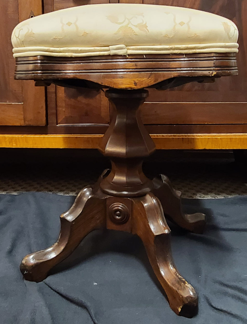 Early century Lord & Taylor, New York antique piano bench